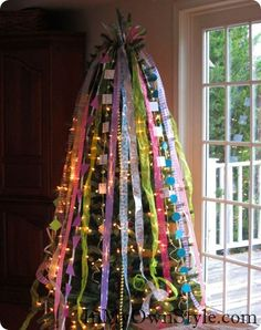 In My Own Style: Ribbon Chritmas Tree Topper