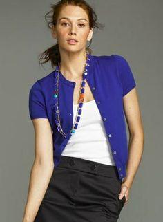 women short sleeve cardigan - Google Search   Business Dress ...