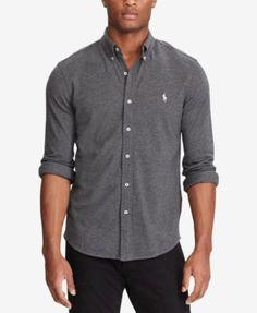 POLO RALPH LAUREN Polo Ralph Lauren Men'S Classic Fit Cotton Mesh Shirt. #poloralphlauren #cloth #down shirts