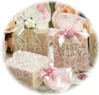 soap w/lace & rose !