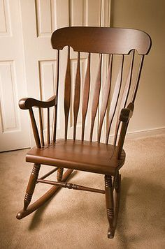 Solid Cherry Wooden Rocking Chair Local Only