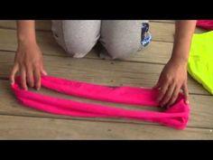 t shirt headband - YouTube