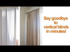 how to hide or replace vertical blinds | Smart DIY Solutions for Renters
