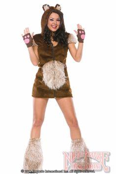 Sexy Teddy Bear Girl Adult Furry Animal Costume in Sexy Furry Animals   NightmareFactory.com
