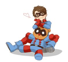 Bucky. I need some super duper kawaii kid sidekick Bucky from the old school Captain America comics in my life.