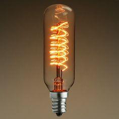 25 Watt - Vintage Antique Light Bulb - T25 Tubular Style Image