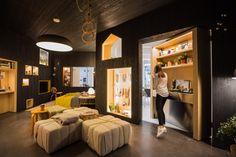 Hidden hideaways and secret doors combined with clean design.