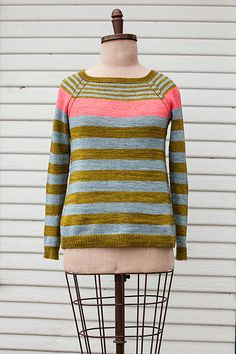 Everybody loves a parade! This sweater, shown in Plucky Feet, is all about three different colored stripes, marching in formation around this simple top down, raglan sleeve pullover. The pattern is written for your favorite Plucky fingering weight and offers another opportunity to mix those fingering bases for added interest. Stripe Parade is a perfect project for a first time sweater knitter!