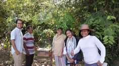 Jeremy our viticulturist, the ladies of Ratu Lestari Alami and the bee keeper training our ladies, Pak Matal