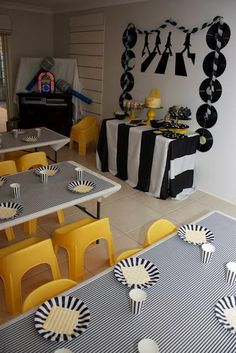 A Beatles themed Yellow Submarine Party by Eleven Event Stories Beatles Party, The Beatles, Festa Yellow Submarine, 70th Birthday Parties, Birthday Memes, 70 Birthday, Birthday Board, Baby Shower, Party Ideas