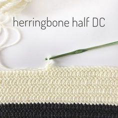 I love the look of this stitch when it is worked back and forth. The herringbone half double crochet…