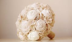 Hey, I found this really awesome Etsy listing at https://www.etsy.com/listing/100004557/fabric-bridal-bouquet-cotton-flower