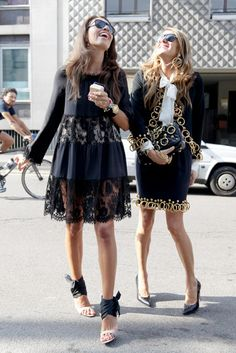 new york fashion week! Love that skirt suit.. perfect for the office :)