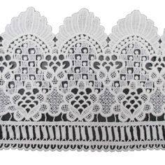5 Inch Wide Cotton Embroidered Eyelet Lace Trims Cotton Fabric For Garment and DIY Craft In White Pack of 5 Yards ** Read more at the image link.