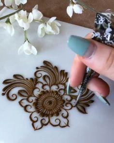 Basic steps of henna Palm Henna Designs, Mehndi Designs For Beginners, Bridal Henna Designs, Mehndi Designs For Fingers, Unique Mehndi Designs, Henna Designs Easy, Beautiful Henna Designs, Henna Tattoo Designs, Finger Henna