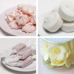goodies from Miette SF - vanilla bean marshmallows, meringue, salted caramels