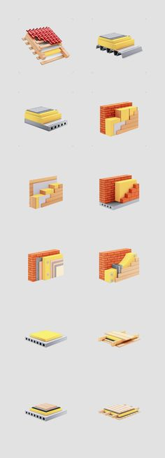 Icon set for Rockwool company, thats have been made with Creative people studio.