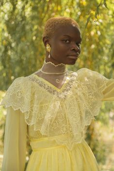 A ray of sunshine and a lovely vision you will be in our Southern Girl Victorian Dress made from yellow swiss dot, silk organza and chiffon. Pretty Outfits, Pretty Dresses, Cute Outfits, Casual Outfits, Girly Outfits, Pretty People, Beautiful People, Black Girl Aesthetic, Victorian Fashion