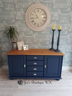 Blue painted pine sideboard dresser display cabinet kitchen - House Plans, Home Plan Designs, Floor Plans and Blueprints Painting Wood Furniture, Painted Cupboards, Decor, Upcycled Furniture, Furniture, Kitchen Sideboard, Furniture Makeover, Painted Furniture, Home Decor