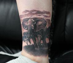 Have you ever been to safari park? :) Fresh black and grey elephant done by Misha R Tattooartist #livingillustrations #tattoostudio #tattoodüsseldorf #tätowierer #bngtattoo #bng #blackandgrey #bnginksociety #bngink_society #instatats #instaink #germantattooers #mishartattoo #realistic #realismus #swtattoo #schwarzweiss