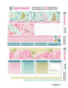 Free Printable May Monthly Planner Stickers from BEaYOUtiful Planning