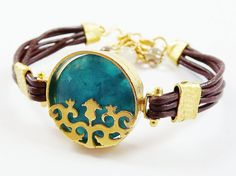 Your place to buy and sell all things handmade Turkish Jewelry, Ethnic Jewelry, Jewellery, Jade Stone, Smokey Quartz, Bangles, Bracelets, Handmade Design, Leather Cord
