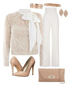 """""""Charity Luncheon"""" by sommer-reign on Polyvore featuring Victor Xenia, Yves Saint Laurent, Michael Antonio, Christian Louboutin, Eddie Borgo, Humble Chic and Tiffany & Co."""