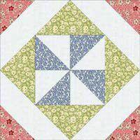 """Free Quilt Block Patterns: Thirties Pinwheel-in-a-Square Block - 12"""""""