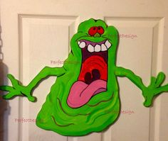 Ghostbusters SLIMER Halloween Sign Party Door by PerfectDesignShop