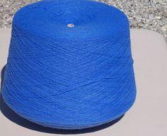 Columbia Blue Acrylic Yarn, Blue Machine Knitting Yarn, Blue Cone Yarn by stephaniesyarn on Etsy