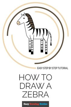 Learn to draw a fun zebra. This step-by-step tutorial makes it easy. Kids and beginners alike can now draw a great looking zebra. Drawing Tutorials For Kids, Drawing For Kids, Drawing Ideas, Animal Drawings, Cartoon Drawings, Cartoon Art, Easy Animals, Draw Animals, Popular Cartoons