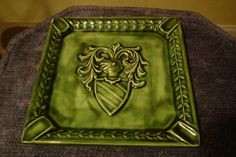 Vintage 70's Ceramic Ashtray Signed By WK 1972