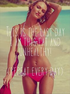 Yes. *repeats to self* this is the last day I will be fit and unhealthy. #fitness #motivation