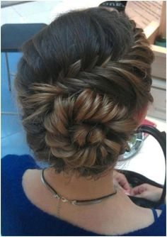 Spiral French Braid Hairstyle. For a sec I thought it was you in this pic @Becca Nicole