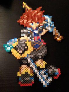 Perler Sora Kingdom Hearts II by WSPWToyFactory on Etsy