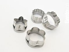 Stainless steel food cutters.