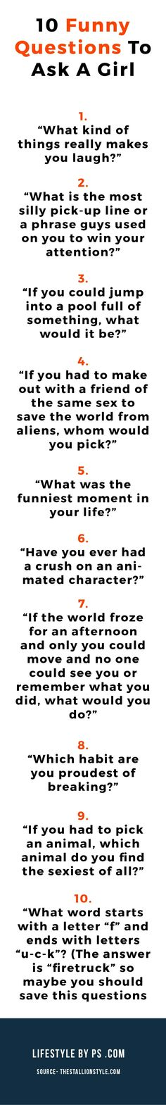 funny questions to ask a guy to make him laugh