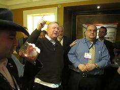 """""""F*ck The Left!"""" - Congressman Steve Stockman addresses the throng of guests of Brooklyn GOP Radio's CPAC 2014 """"Reaganpalooza Pre-Game"""" Gallo:  """"I'll drink to that!"""""""