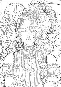 New Free And Exclusive Coloring Pages For Adults Just Color Cool Coloring Pages Cute Coloring Pages Steampunk Coloring
