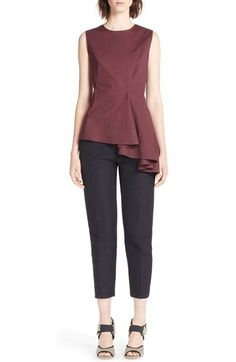 Marni Asymmetrical Cotton Poplin Top available at #Nordstrom