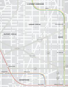 Washington, D.C. snapshot #map by Minna Ninova #DC #maps #cartography