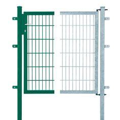 Einzeltor für Doppelstabmattenzaun Verzinkt 100 cm x 100 cm
