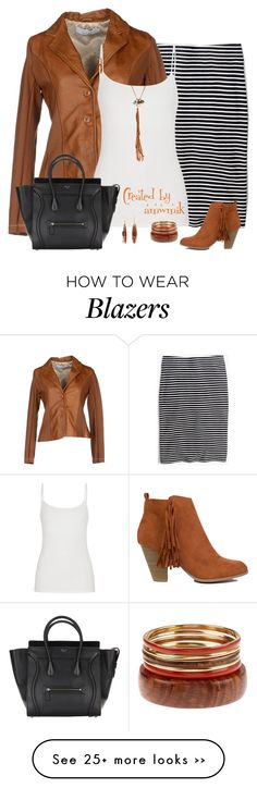 """Skirt and Blazer"" by amwmik on Polyvore featuring Madewell, KAOS, maurices, Silver Forest and Astali"