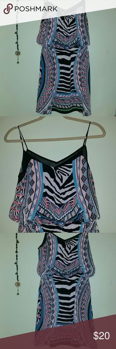 M express boho chic zebra tribal dress Only worn a handful of times - excellent condition Express Dresses Midi