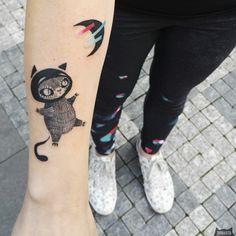www.instagram.com... #tattoo #tatuaz #tattoowork #project #design #ink #inked #graphic #tattuaggio #btattooing #tattuaje #illustration #татуировка #тату #krakow #berlin #wroclaw #warszawa #prague #praha #tetovani #tätowierung #tatuajes #panakota #littletattoos #cat #moon