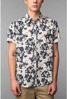 #style #menswear #looks #mood #trend #fashion #print #shirt #nautical #boats #casual