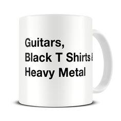 MG042 Magoo Guitar & Heavy Metal Essentials Coffee Mug – gift for heavy metal fan