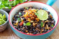 Instant Pot Black Beans With Spiced Fried Onion (gluten-free, vegan, vegetarian)