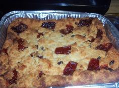 coconut bread pudding w/ raisins and guava Recipe  http://www.justapinch.com/recipes/dessert/pudding/coconut-bread-pudding-w-raisins-and-guava.html?p=330#