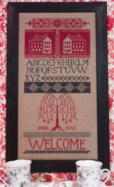Weeping Willow Welcome - Cross Stitch Pattern